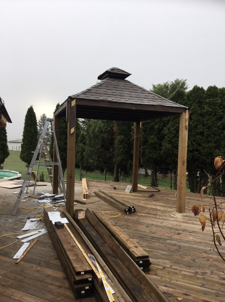 Deck Pergola Posts and Gazebo Top